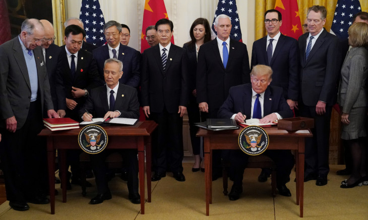 US China Sign Phase One Trade Deal