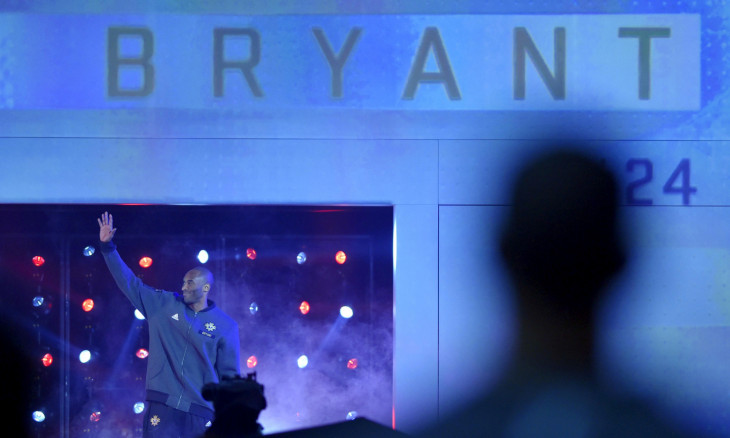 FILE PHOTO: Western Conference forward Bryant of LA Lakers is introduced in Toronto