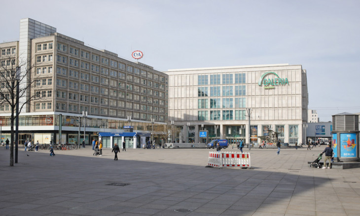 An empty square is seen during the spread of coronavirus disease (COVID-19) in Berlin