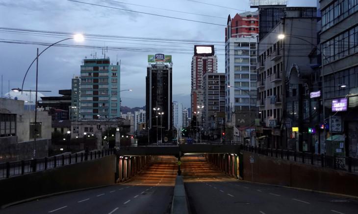A view of empty centre of La Paz