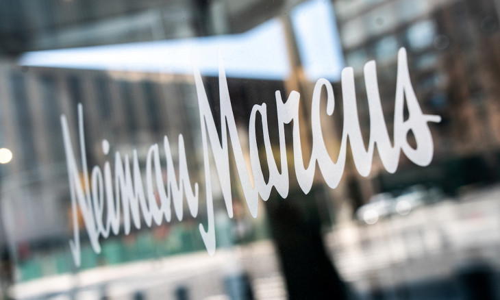 The signage outside the Neiman Marcus store is seen in New York
