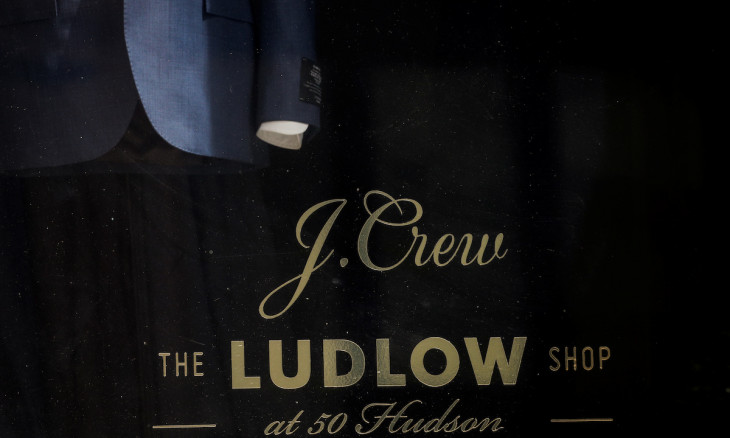 The Ludlow Shop, the J. Crew Group store is seen, after the company filed for bankruptcy protection, in New York City