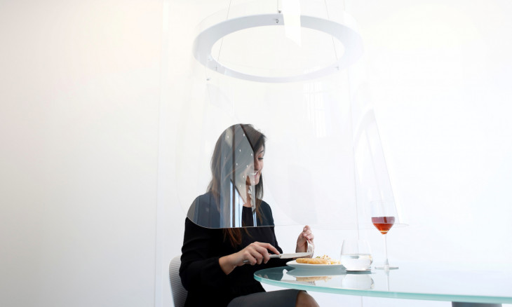 French designer prototypes bubbles to protect restaurant diners from novel coronavirus infection