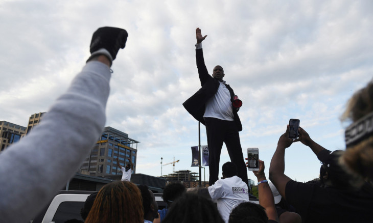 Protesters demonstrate following the death of George Floyd in Minneapolis, Minnesota