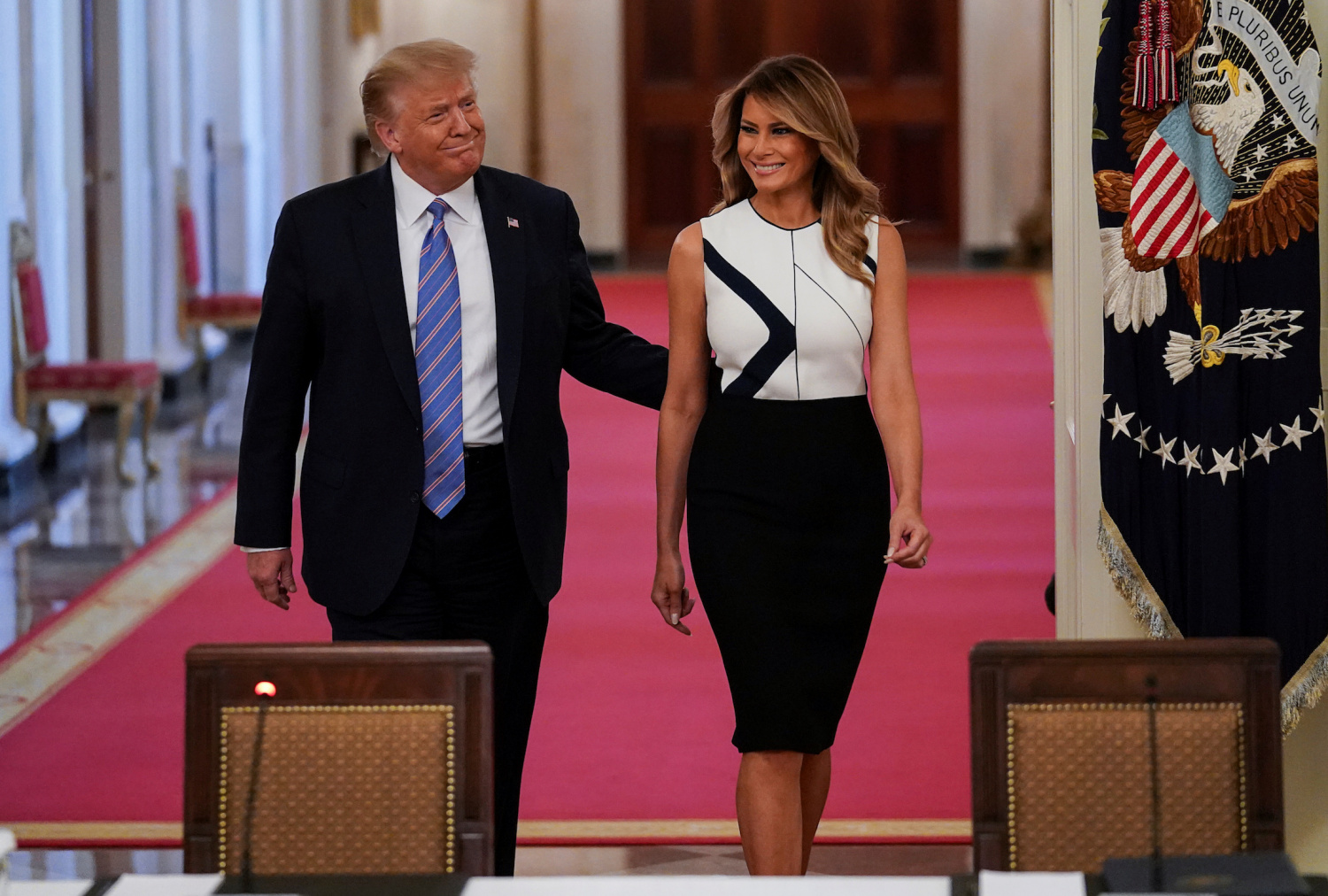 School Denies Claims Melania Trump S Mt Rushmore Dress Was Designed By Child Sex Trafficking Victims