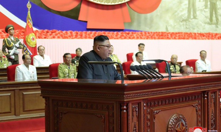 North Korean leader Kim Jong Un attends the 6th National Conference of War Veterans