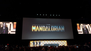 'The Mandalorian' logo at 'Star Wars' Celebration