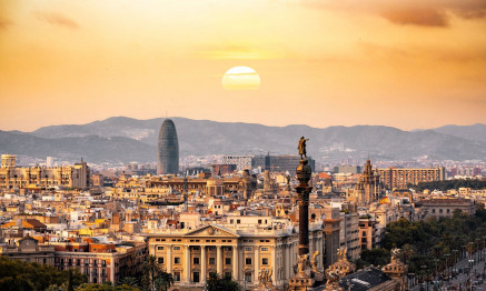 Aerial photography of Spain.