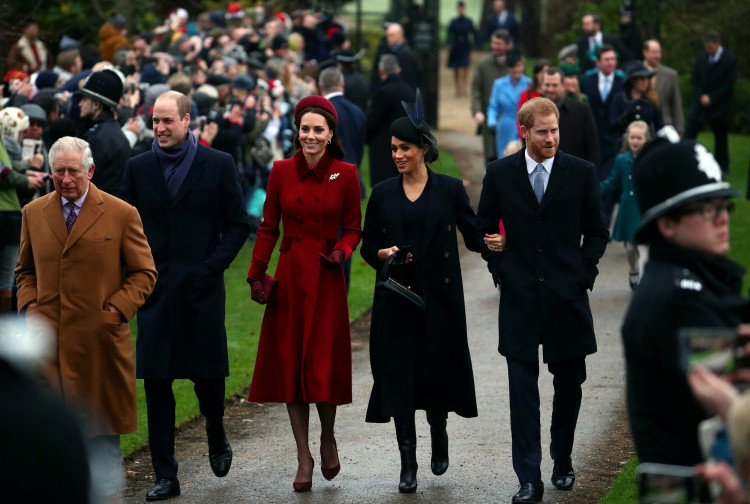 FILE PHOTO: Members of Royal family arrive at St Mary Magdalene's church for the Royal Family's Christmas Day service on the Sandringham estate in eastern England