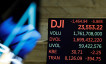 The Dow Jones Industrial Average is displayed after the closing bell on the floor of the New York Stock Exchange (NYSE)