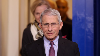 Dr. Anthony Fauci of the National Institutes of Health arrives for the daily coronavirus task force briefing with President Donald Trump at the White House in Washington, U.S.