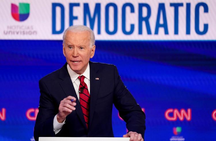 Democratic U.S. presidential candidate and former Vice President Joe Biden