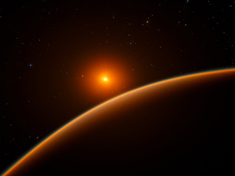 Artist's impression of the super-Earth exoplanet LHS 1140b