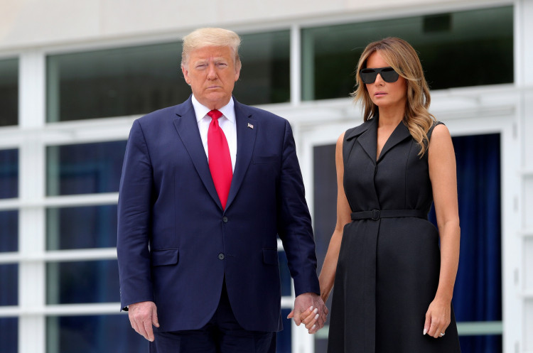 U.S. President Donald Trump visits Saint John Paul II National Shrine in Washington