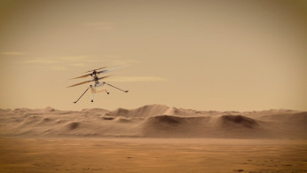 Ingenuity Mars Helicopter in an undated illustration provided by the Jet Propulsion Laboratory.