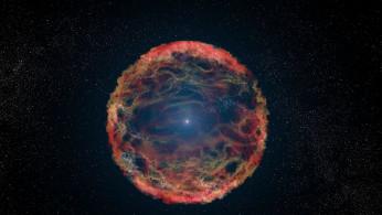Artist's impression of supernova 1993J