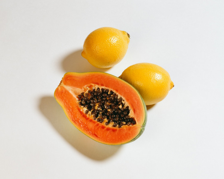 papaya and lemons