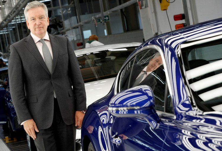 FILE PHOTO: Chairman and CEO of Bentley Motors Adrian Hallmark poses at their manufacturing facility in Crewe