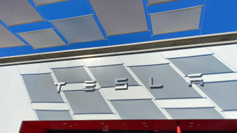 A Tesla store is shown at a shopping mall in San Diego, California