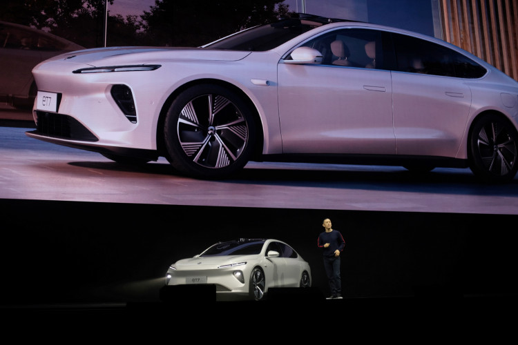 Chinese electric vehicle maker Nio Inc's product launch event in Chengdu