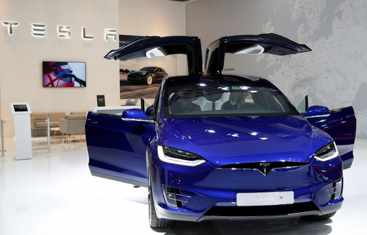 A Tesla Model X electric car is seen at Brussels Motor Show, Belgium, January 9, 2020