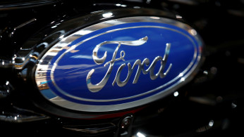 FILE PHOTO: Ford logo is pictured at the 2019 Frankfurt Motor Show (IAA) in Frankfurt, Germany September 10, 2019