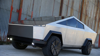 Tesla Cybertruck replica is seen in Mostar, Bosnia and Herzegovina September 4, 2020