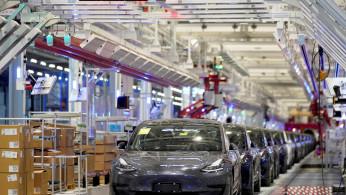 Tesla Model 3 sedans