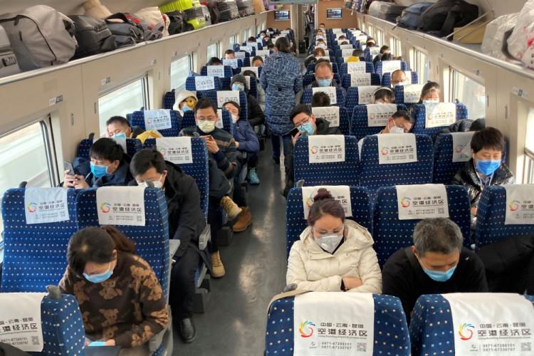 China shares train