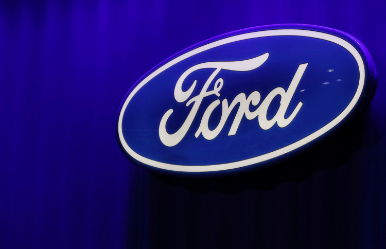FILE PHOTO: The Ford logo is seen at the North American International Auto Show in Detroit, Michigan