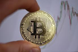 The logo of the Bitcoin digital currency