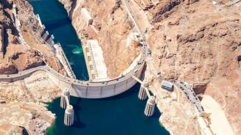 white concrete dam