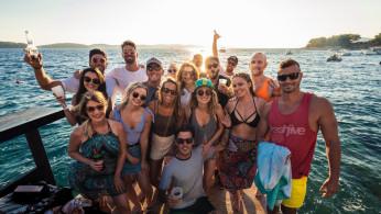 crowd, beach