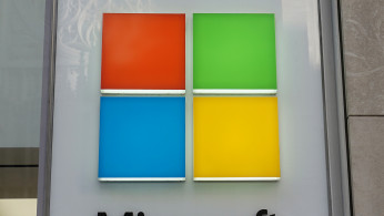 FILE PHOTO: A Microsoft logo is pictured on a store in the Manhattan borough of New York City, New York, U.S., January 25, 2021.