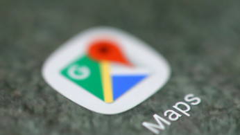 FILE PHOTO: The Google Maps app logo is seen on a smartphone in this picture illustration taken September 15, 2017.