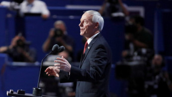 FILE PHOTO: Governor Asa Hutchinson speaks at the Republican National Convention in Cleveland, Ohio, U.S. July 19, 2016.