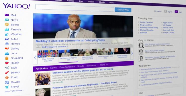 Yahoo! news portal