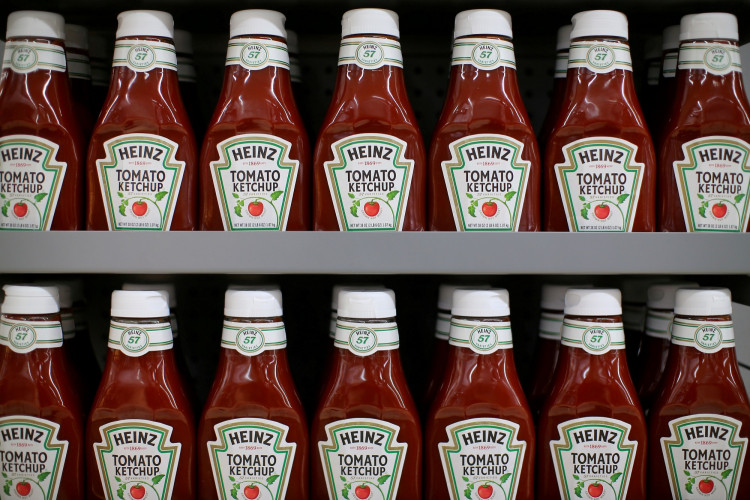 FILE PHOTO: Heinz tomato ketchup is show on display during a preview of a new Walmart Super Center prior to its opening in Compton, California, U.S., January 10, 2017.