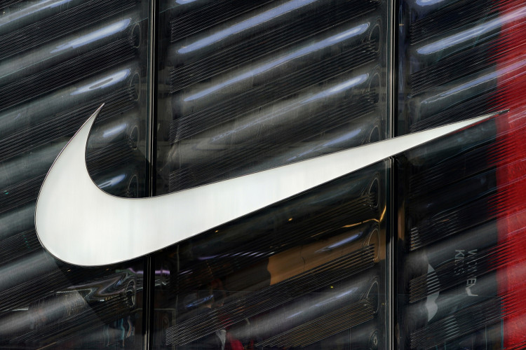 FILE PHOTO: The Nike swoosh logo is seen outside the store on 5th Avenue in New York, New York, U.S., March 19, 2019.
