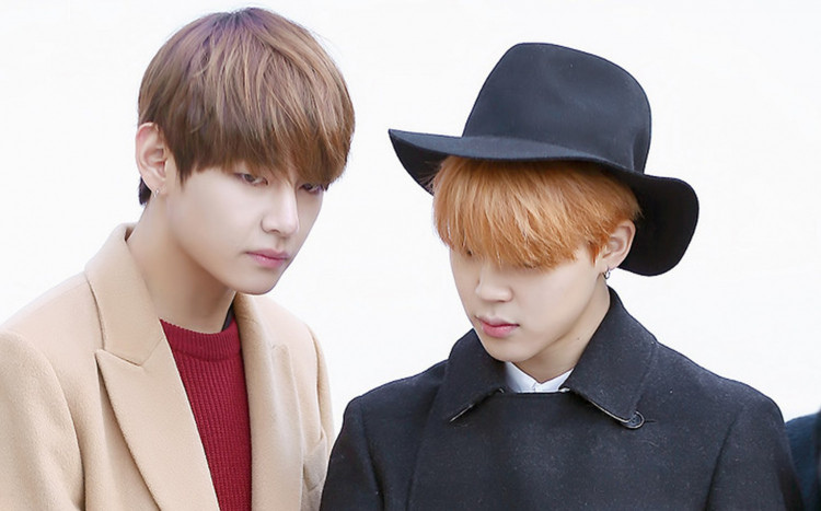 Jimin and V of BTS