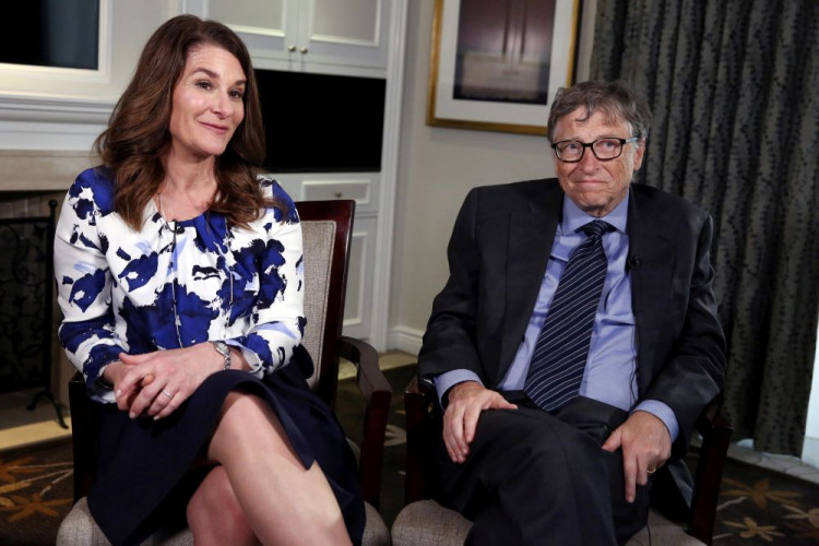 Microsoft co-founder Bill Gates and his wife Melinda sit during an interview in New York February 22, 2016.