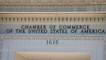 The United States Chamber of Commerce building is seen in Washington, D.C.