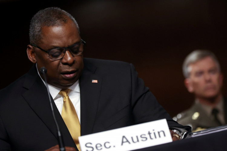 U.S. Secretary of Defense Lloyd Austin testifies before a Senate Armed Services Committee hearing on the Pentagon's budget request, on Capitol Hill in Washington, U.S. June 10, 2021.