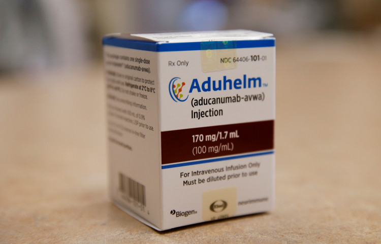 Aduhelm, Biogen's controversial recently approved drug for early Alzheimer's disease, is seen at Butler Hospital, one of the clinical research sites in Providence, Rhode Island, U.S. June 16, 2021.
