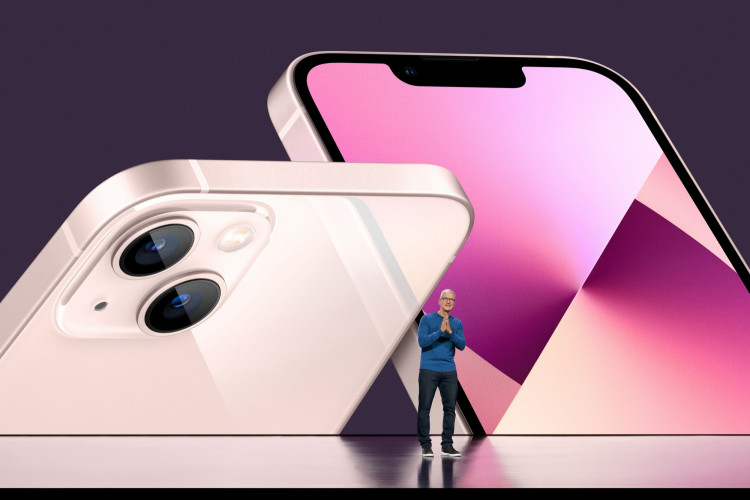 Apple CEO Tim Cook unveils the new iPhone 13