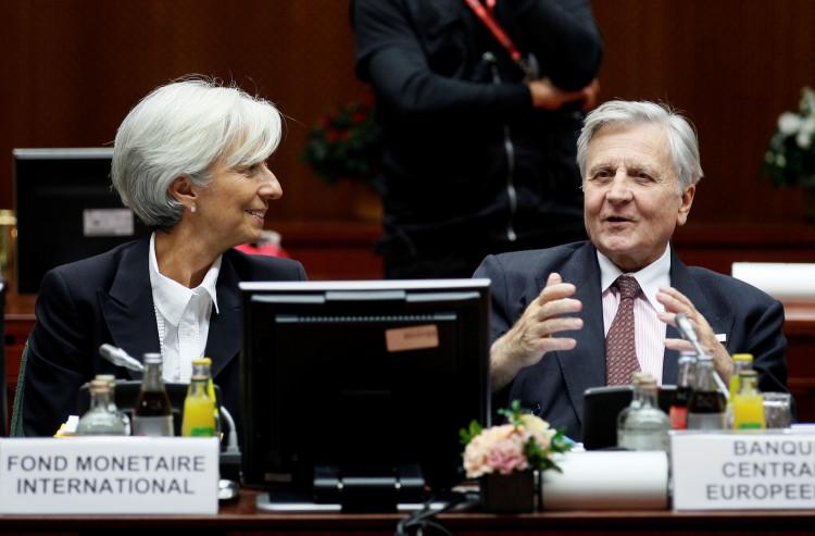 IMF President Christine Lagarde and European Central Bank President Jean-Claude Trichet