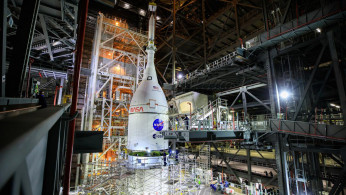 Orion Spacecraft Joins Artemis I Moon Rocket at Kennedy