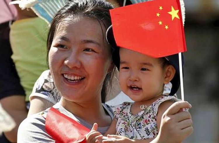 Chinese mother and daughter.