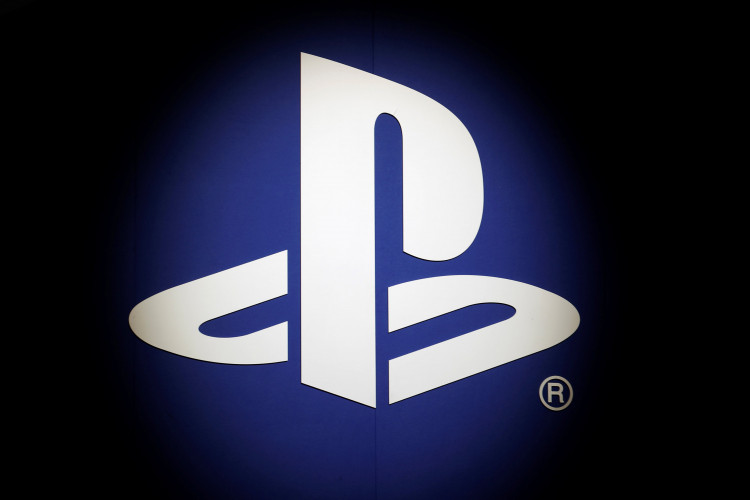 The Sony Playstation logo is seen at the Paris Games Week (PGW), a trade fair for video games in Paris
