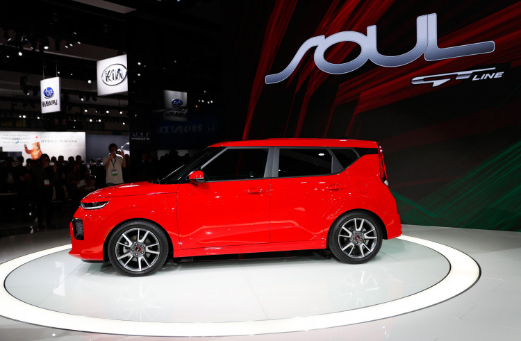 The 2019 Kia Soul GT is introduced during a Kia press conference at the Los Angeles Auto Show in Los Angeles